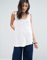 Free People Traveller Button Up Tank Top