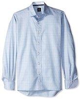 Ike Behar Men's Herringbone Check Sportshirt