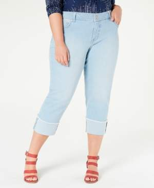 Style&Co. Style & Co Plus Size High-Cuff Capri Jeans, Created for Macy's