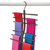 Lynk Hanging Tiered Scarf Holder - Closet Hanger - Organizer Rack - Bronze