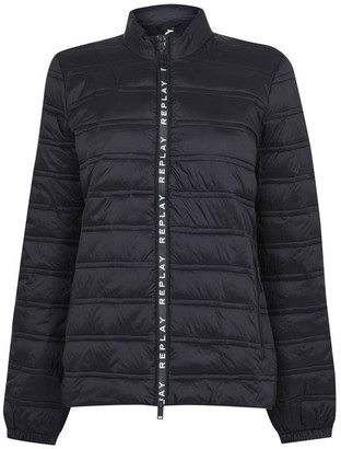 Replay Padded Jacket With Zipper