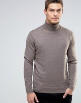 Esprit Roll Neck Cashmere Mix Sweater