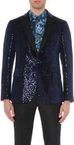 Etro Sequin-embellished velvet jacket