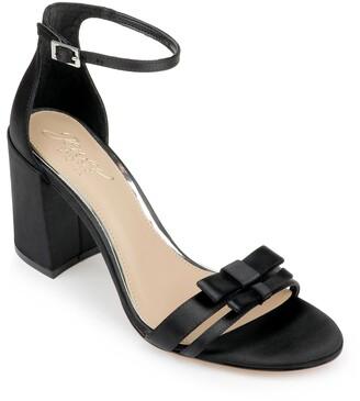 Badgley Mischka Rio Satin Bow Block Heel Sandal