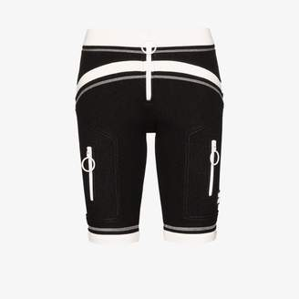 Off-White Off White Womens Black Two Tone Scuba Bike Shorts