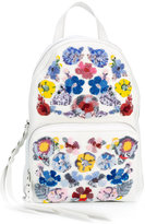 Alexander McQueen floral embroidered backpack - women - Calf Leather - One Size
