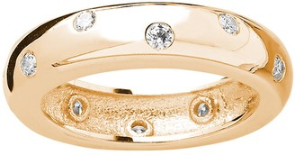 Sterling Forever 14K Yellow Gold Plated Sterling Silver CZ Ring