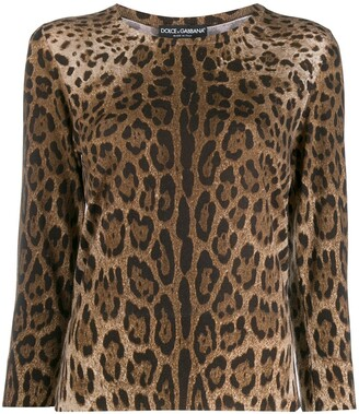 Dolce & Gabbana Leopard Pattern Jumper