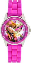Character Girls Pink Strap Watch-Fzn3552jc