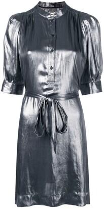 Zadig & Voltaire Metallic Shirt Dress
