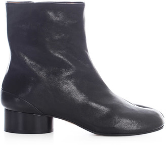 Maison Margiela Vintage Soft Leather Tabi Boots 3 Heel