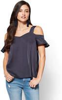 New York & Co. Cold-Shoulder Blouse