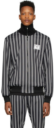 Dolce & Gabbana Black Striped Zip Up Jacket