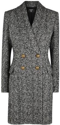 Balmain Monochrome double-breasted boucle coat
