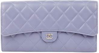 Chanel Grey Leather Purses, wallets & cases