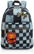 Marc Jacobs Biker Checker Denim Backpack