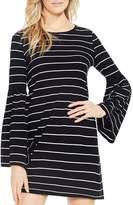 Vince Camuto Bell Sleeve Nova Stripe Knit Dress