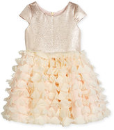 Zoë Ltd Cap-Sleeve Metallic & Chiffon Party Dress, Blush, Size 2-6