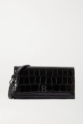 Balenciaga Touch Croc-effect Leather Shoulder Bag - Black
