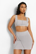 Thumbnail for your product : boohoo Exposed Seam Mini Skirt