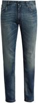 Fendi Bag Bugs-embroidered slim-leg jeans