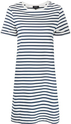 A.P.C. mariner jersey T-shirt dress