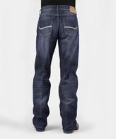 Stetson Medium Wash Heavy Stitch Straight-Leg Jeans - Men's Regular