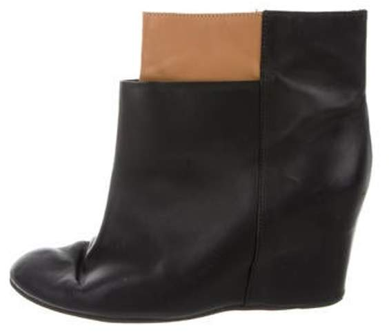 MM6 MAISON MARGIELA Wedge Ankle Boots Black Wedge Ankle Boots