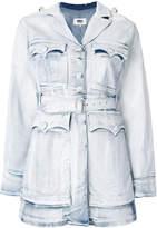 MM6 MAISON MARGIELA belted denim jacket