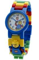 Lego Classic 8020189 Kids Minifigure Link Buildable Watch | black/yellow | plastic | 28mm case diameter| analog quartz | boy girl | official