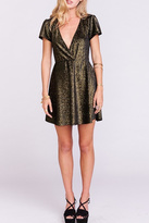 Show Me Your Mumu Gold Sparkle Dress