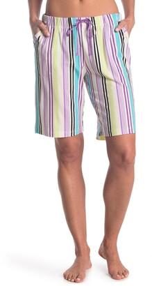 Hue Icicle Stripe Print Bermuda Pajama Shorts