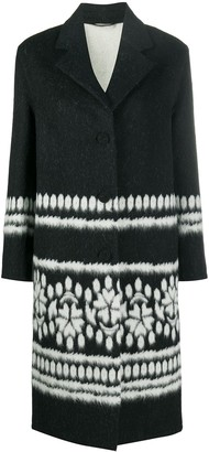 Ermanno Scervino Mixed Pattern Single-Breasted Coat
