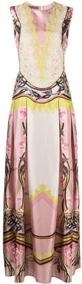 Alberta Ferretti Printed Silk Maxi Dress