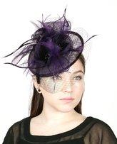 NYfashion101(TM) Cocktail Fashion Sinamay Fascinator Hat Flower Design & Net S102651