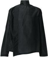 Emporio Armani asymmetric wrap shirt