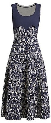 Alaia Closerie Bow Flower Midi Dress