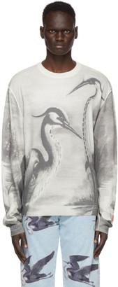 Heron Preston Beige and Black Heron Panel Sweater