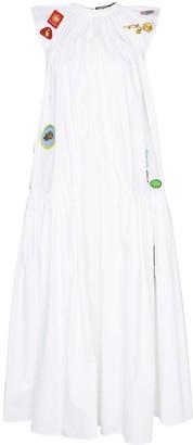 Chopova Lowena Sleeveless Patch Detail Maxi Dress