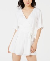 Thumbnail for your product : Trixxi Juniors' Scalloped Wrap Romper