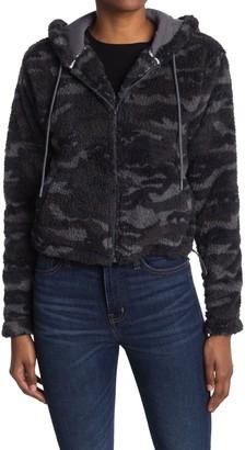 Dickies Camo Faux Shearling Zip Jacket