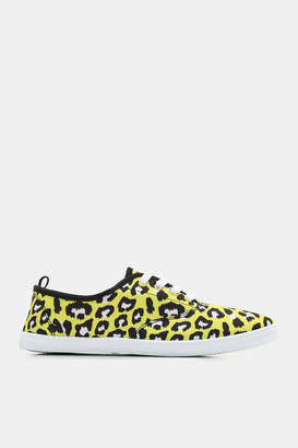 Ardene Animal Print Laced Sneakers