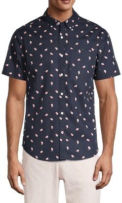 Original Penguin Tossed Popcorn-Print Short-Sleeve Shirt