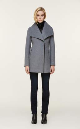 Soia & Kyo MAEVA classic wool coat with removable bib