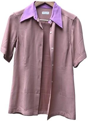 Dries Van Noten Pink Silk Top for Women