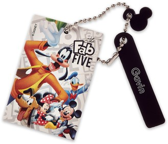 Disney Mickey Mouse and Friends Leather Bag Tag Personalizable