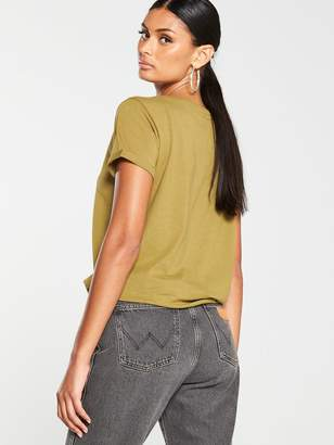 Very The Essential Basic Scoop Neck T-Shirt - Olive