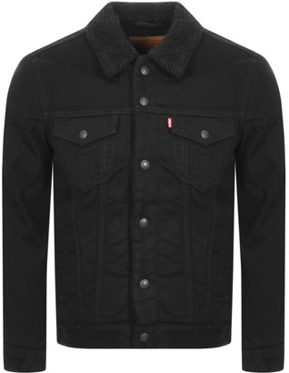Levi's Levis Denim Sherpa Trucker Jacket Black