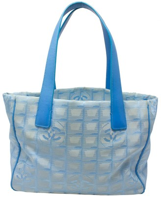 Chanel Sky Blue Canvas Small Travel Ligne Tote