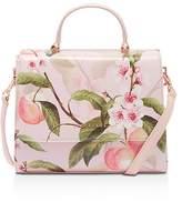 Ted Baker Deanna Peach Blossom Crosshatch Small Satchel